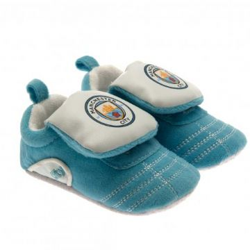 Manchester City Baby Crib Shoes 3/6 Months